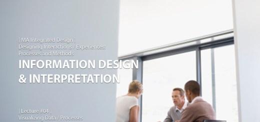 Designing Interactions: Information Design & Interpretation