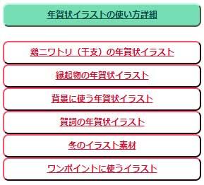 トップページの年賀状テンプレートカテゴリー