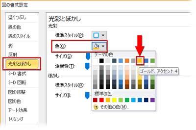 干支のコスプレの光彩の色を指定