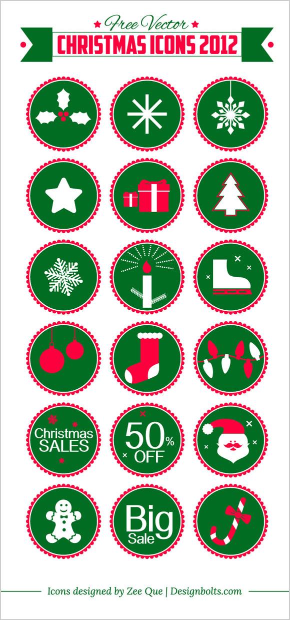 Free Vector Christmas Icons 2012 Designbolts