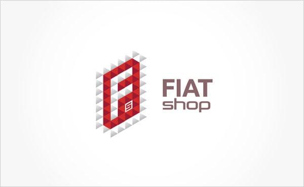 FiatShop-romanian-Car-Part-Selling-Company-Logo-&-Busienss-Card-Design