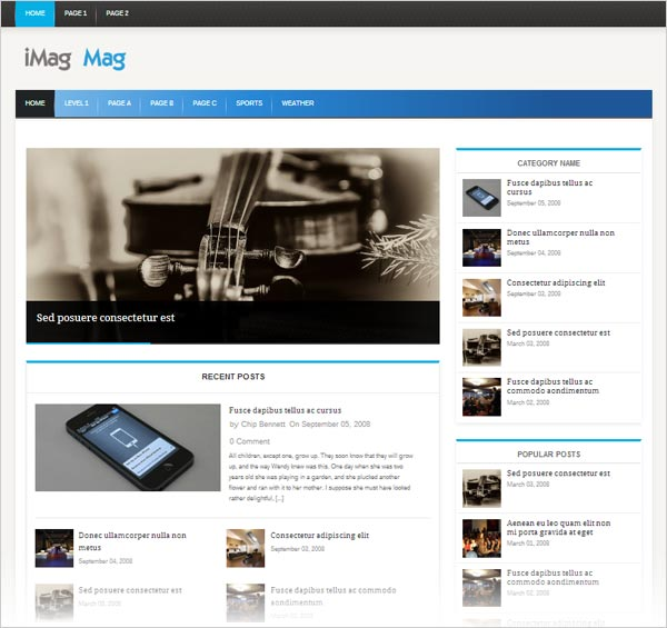 20+ Simple Yet Beautiful Free Responsive WordPress Themes ...