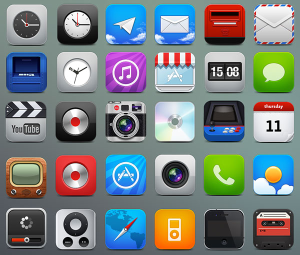 25 Absolutely Free Beautiful iOS iPad/iPhone & App Icons Sets To Download