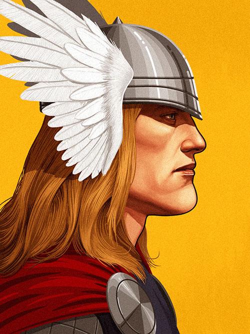 50+ Beautiful Detailed Illustrations of Marvel Superheros ...
