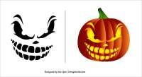 halloween pumpkin scary face templates