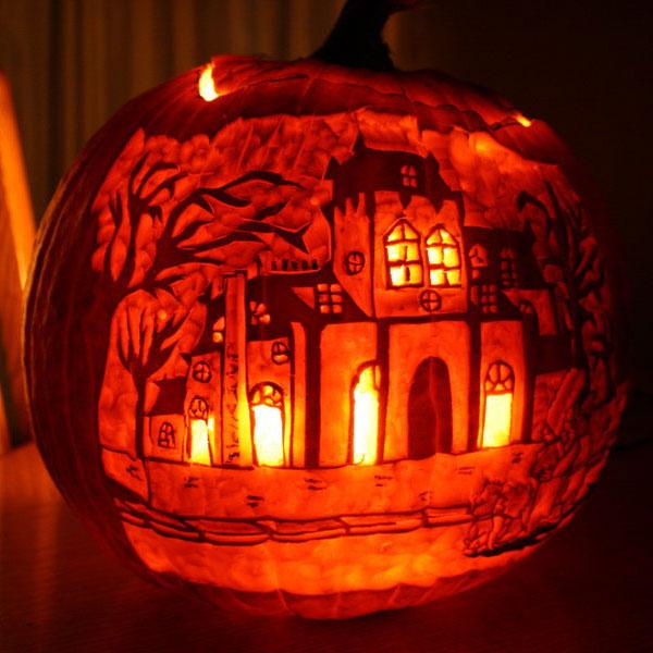 Pumpkin Carving Werewolf Stencils