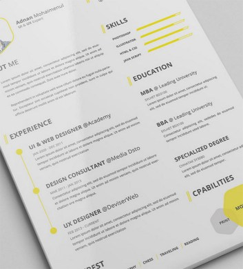 free cv resume psd template   Fast lunchrock co free