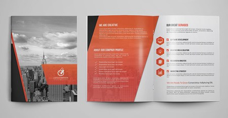 30  Really Beautiful Brochure Designs   Templates For Inspiration     Bi fold Tri fold Brochure Template 2
