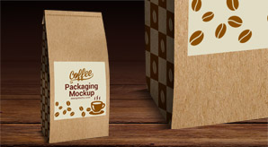 Download Free High Quality Coffee Packaging Mock-up PSD
