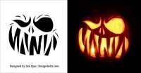 halloween pumpkin templates free scary