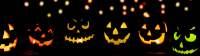 creepy halloween banner