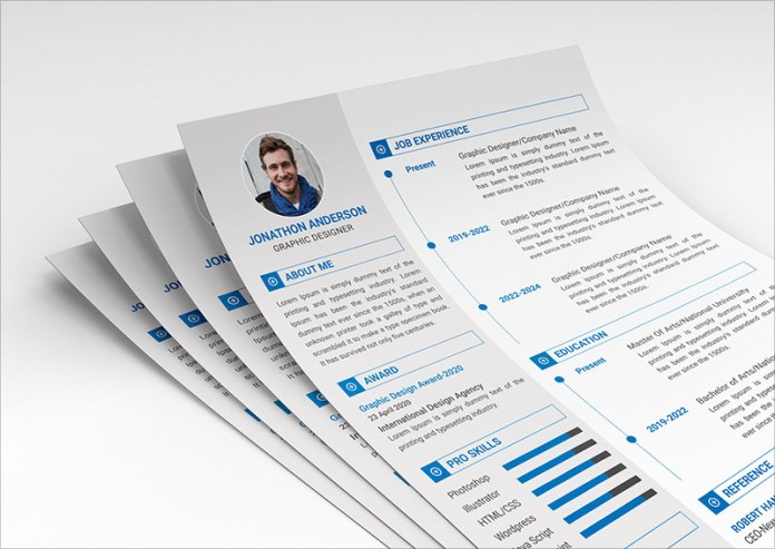 10 Fresh Free Resume Cv Design Templates 2018 In Word Psd Ai Indd Formats