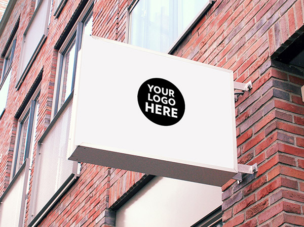 This high quality mockup comes as a photoshop psd file, based on smart objects making it really easy for you to place your art work. 60 Free Best Outdoor Wall Hanging Mounted Shop Sign Mockup Psd Files