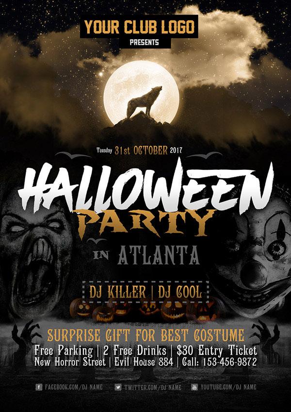 60 Free Halloween Posters Invitation Flyers Amp Print Templates 2018