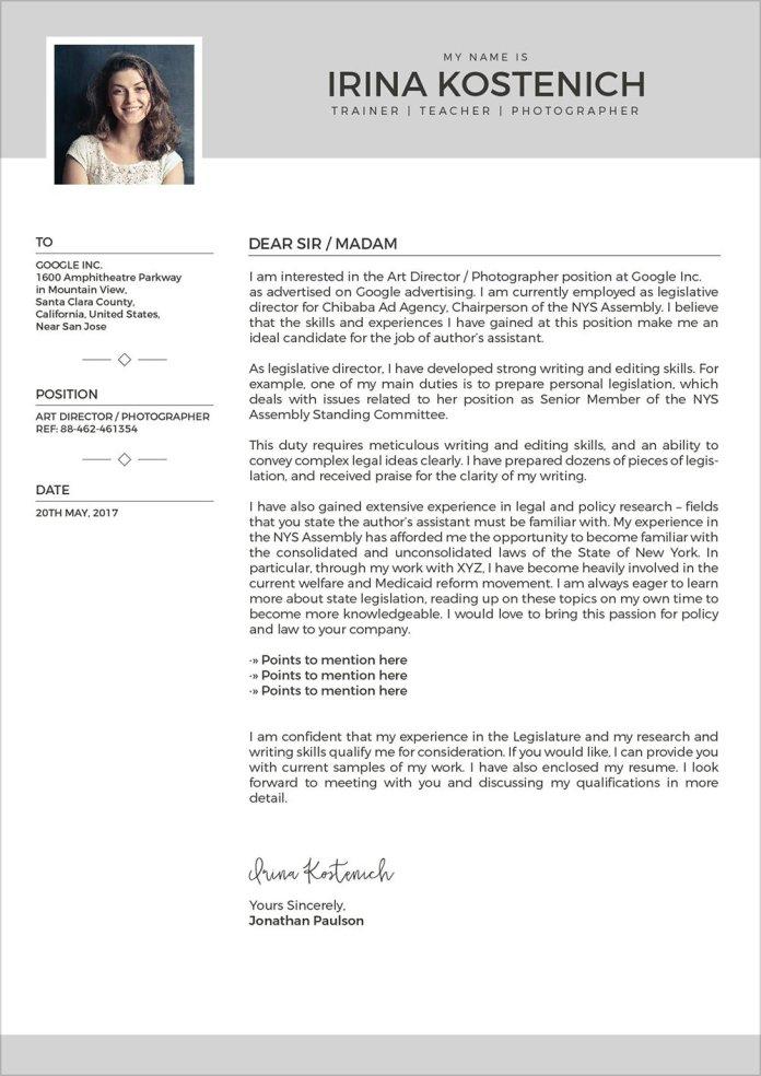 Free Modern Cv Template Cover Letter Portfolio Design Template In Vector Ai