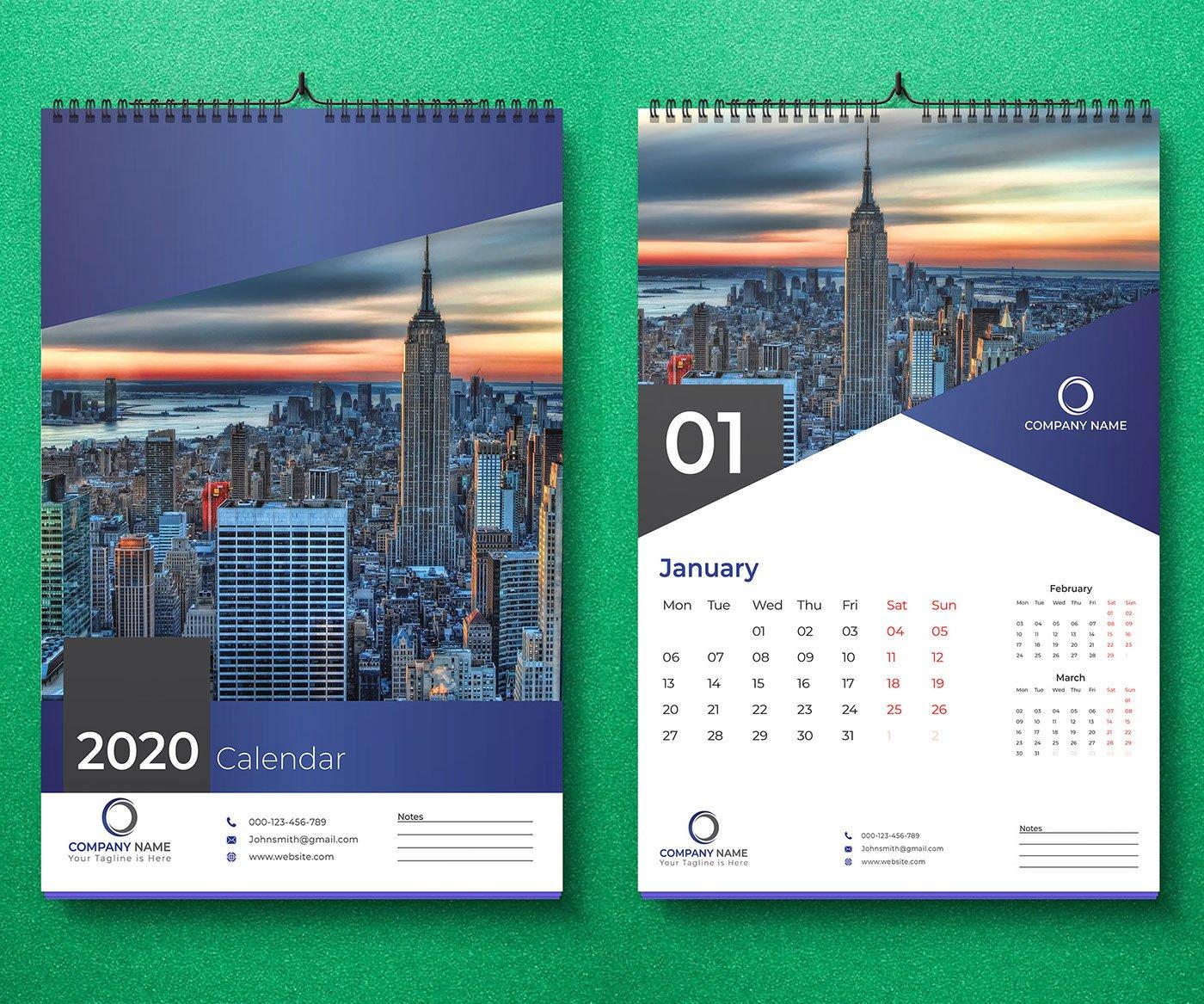 15 Best New Year 15 Wall & Desk Calendar Designs for Inspiration