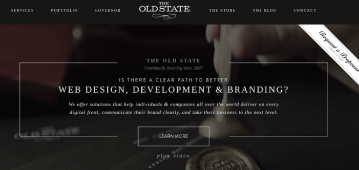 the_old_state 19 Black Websites for Your Inspiration