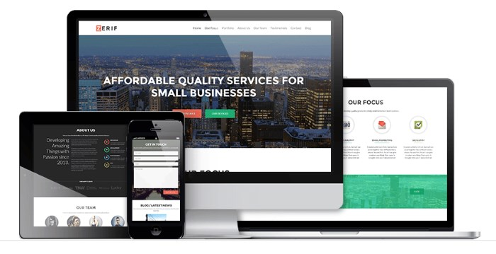 zerif 7 Top Corporate / Business WordPress Themes + What Makes Them Great