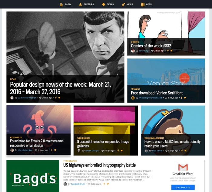 wdd-homepage Analyzing Web Designer Depot's New Design