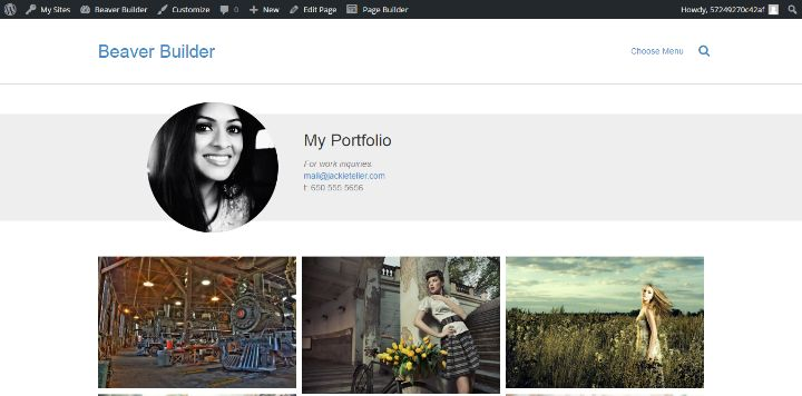 beaver-builder-portfolio-template 3 Complex Websites You Can Build Easily With WordPress Page Builder Plugins
