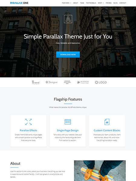 parallax-on-theme 21+ Best Free Responsive WordPress Themes for 2017