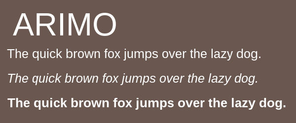 arimo Best Fonts for Websites: 25 Free Fonts for Websites