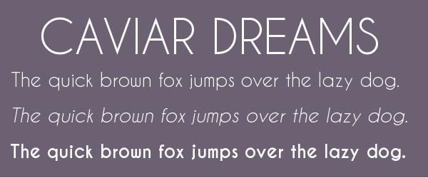 caviar-dreams Best Fonts for Websites: 25 Free Fonts for Websites
