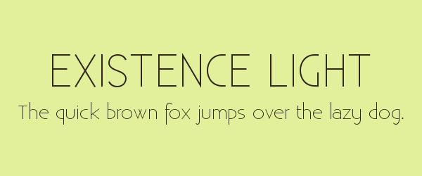 existence-light Best Fonts for Websites: 25 Free Fonts for Websites
