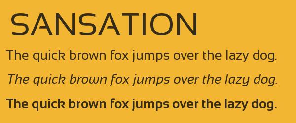 sansation Best Fonts for Websites: 25 Free Fonts for Websites