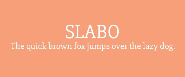 slabo Best Fonts for Websites: 25 Free Fonts for Websites