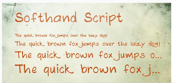 softhand-script 22 Beautiful Premium Fonts for Logo Designs