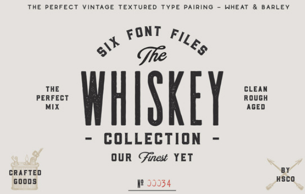 the-whiskey-font-collection 27 Free & Premium Designer Fonts