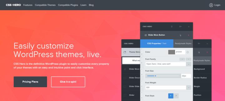 css-hero CSS Hero Review: Easily Customize WordPress Themes
