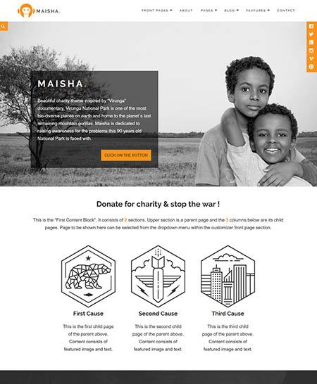 maisha-wordpress-theme 12 Best Non-Profit & Charity WordPress Themes