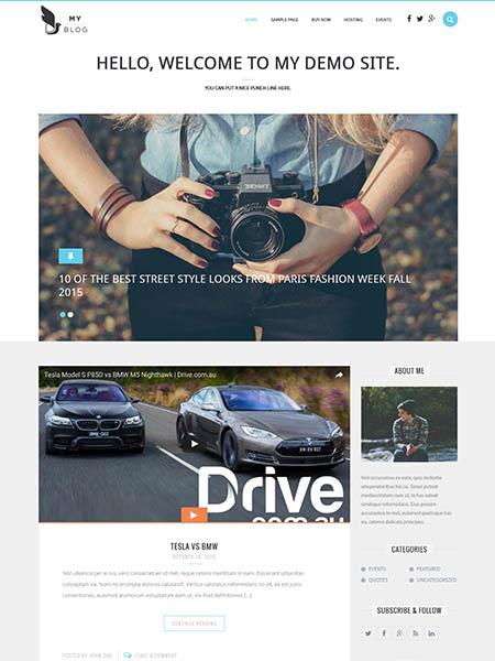 myblog 18 Best Minimalist WordPress Themes For Business, Portfolio, and Blogs