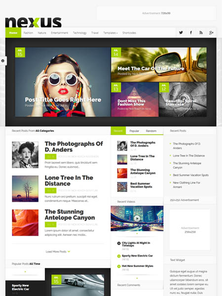 nexus 20+ Best Personal WordPress Blog Themes For Corporate, Fashion, Travel, And Personal Blogs