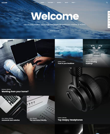 uncode-theme-wordpress-blog 20+ Best Personal WordPress Blog Themes For Corporate, Fashion, Travel, And Personal Blogs