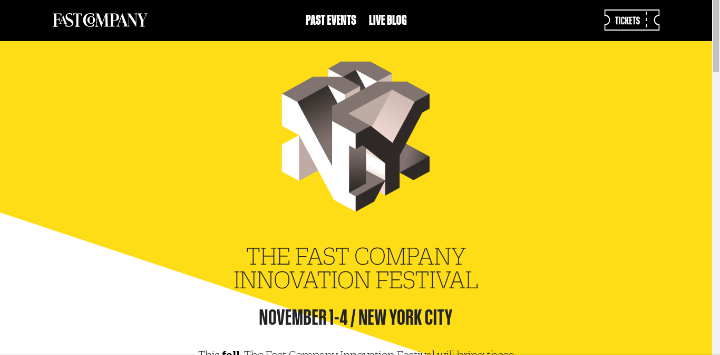 Fast-Company-Innovation-Festival 25 Examples of Unique Sites Using Squarespace