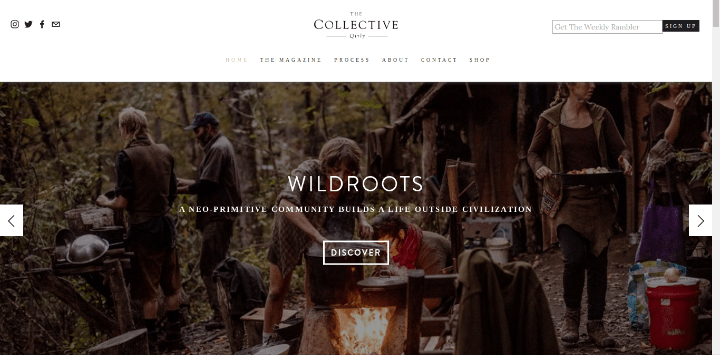 collectivequarterly 25 Examples of Unique Sites Using Squarespace