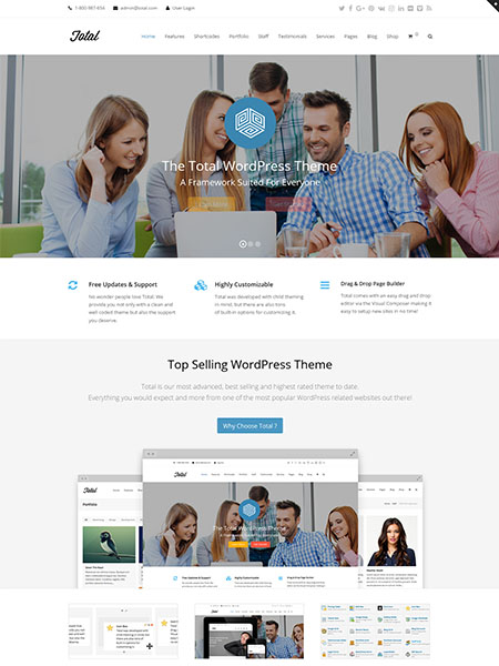 total-theme 13 of the Best Drag and Drop Theme Builders for WordPress