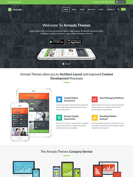 armada-theme 12 Best Marketing WordPress Themes for Bloggers & Small Business Owners