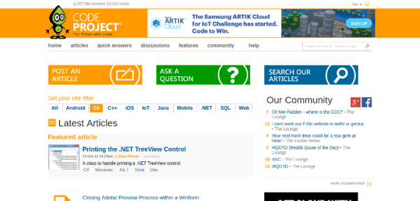 code-project 15 Useful Code Sharing Websites for Web Developers