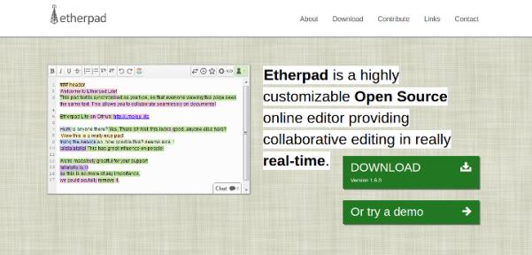 etherpad 15 Useful Code Sharing Websites for Web Developers