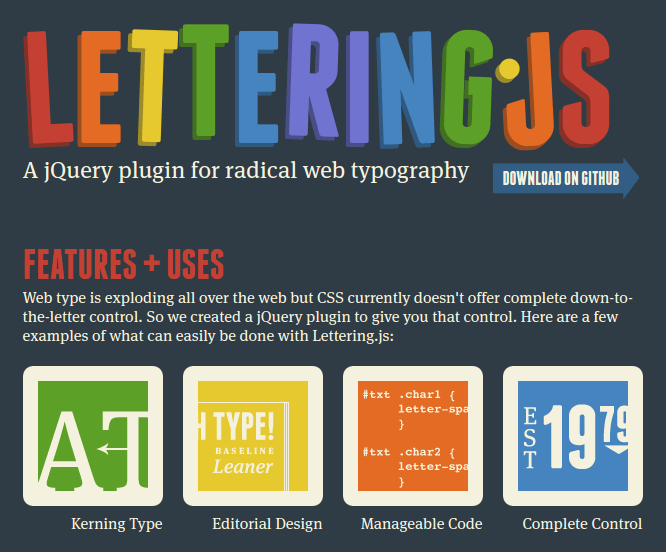 lettering-js 15 Top Free JavaScript Libraries and Plugins for Web Developers