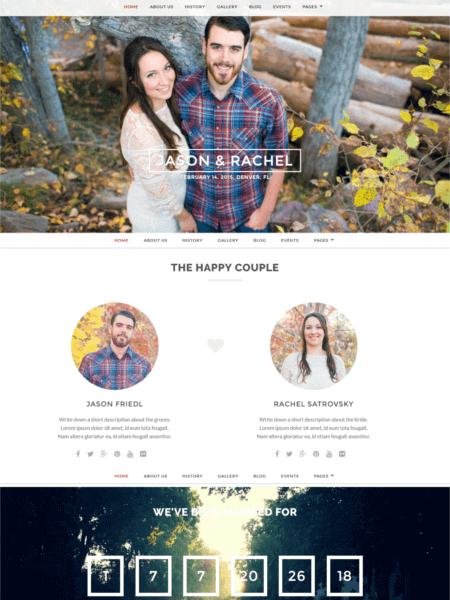 merit 20 Stunning WordPress Wedding Themes for 2017