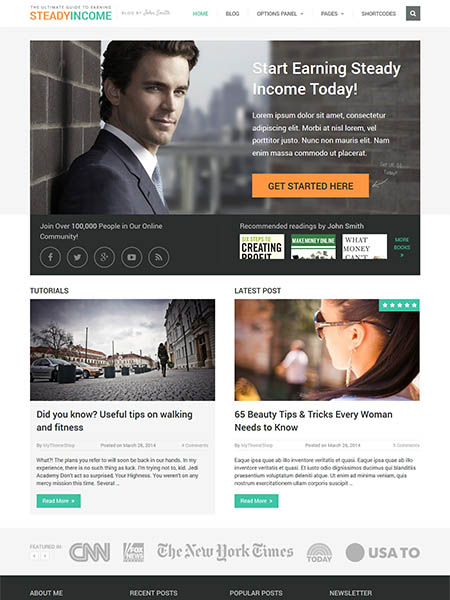 steadyincome-theme 12 Best Marketing WordPress Themes for Bloggers & Small Business Owners