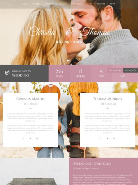 weddingindustry 20 Stunning WordPress Wedding Themes for 2017