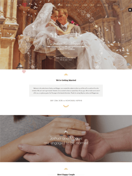 weddingsuite 20 Stunning WordPress Wedding Themes for 2017