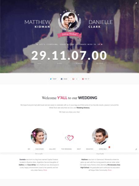 xoxo 20 Stunning WordPress Wedding Themes for 2017