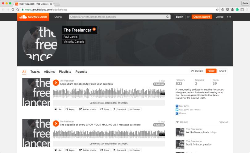 The-Freelancer-Free-Listening-on-SoundCloud-2016-10-02-02-47-20 25 Useful Resources for working Digital Nomads